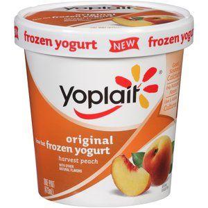 Yoplait Original Low Fat Harvest Peach Frozen Yogurt, 1 pt
