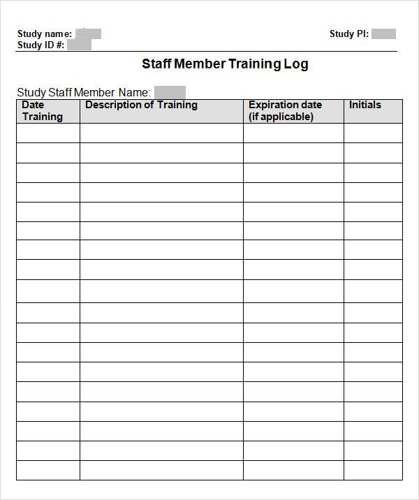 Training Log Templates 11 Free Printable Word Excel Pdf Certificate Template Template Design Template Word