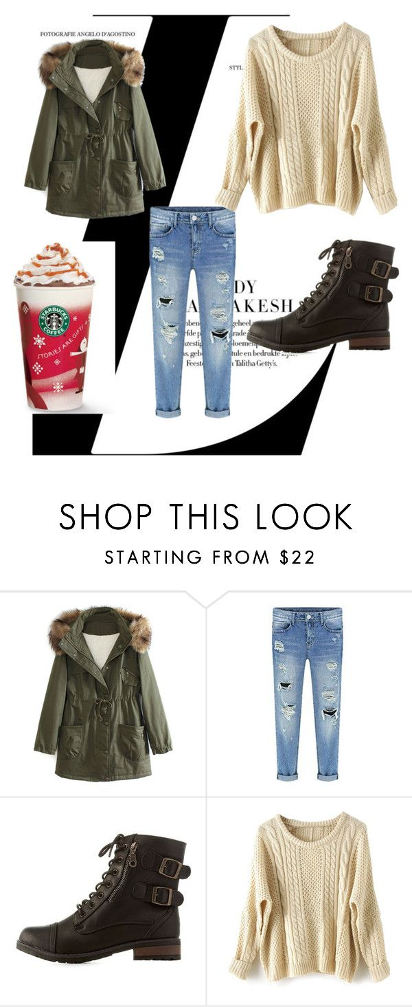 """""""but first coffee....."""" by titan-1 ❤ liked on Polyvore featuring WithChic, Bamboo, women's clothing, women's fashion, women, female, woman, misses and juniors"""