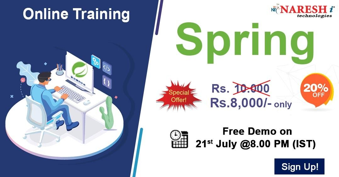 Spring Online Training Demo on 21st July 08.00 PM (IST