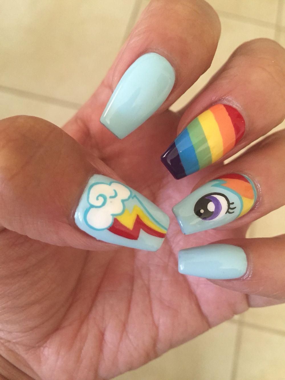 Decoración de uñas my little pony-5   Uñas   Pinterest   Manicure ...