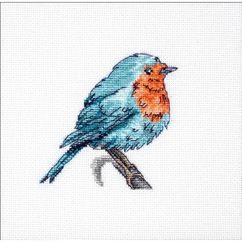 Cross stitch kit blue bird diy lucas kit modern cross