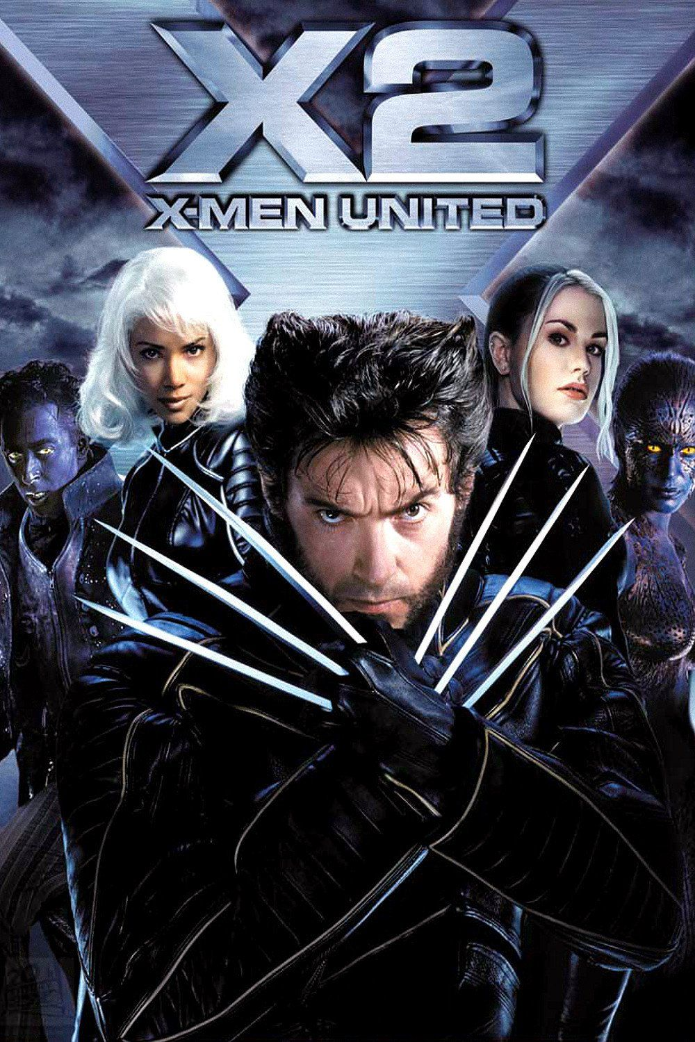 X2 X Men United 2003 Poster Movies Superhero Movies Man Movies X Men