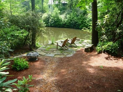 waterfront chairs and a secret spot in the garden