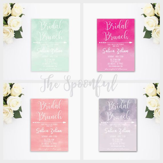 ~*Welcome to The Spoonful*~  Watercolor Bridal Shower Invittation