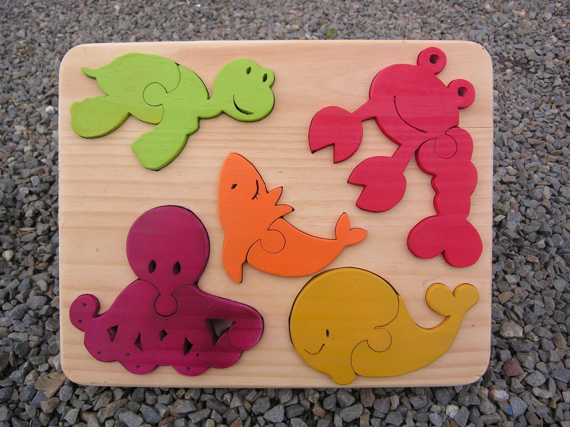 Jeux de puzzle en bois massif, pour votre enfants de 3 ans et moins   Puzzle en bois, Jeux de ...