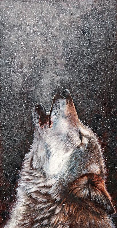 Wolf Print featuring the painting Every Breath I Take by Peter Williams