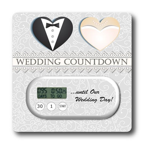 Wedding Countdown Gifts For Bride: Our Wedding Countdown Timer & Embellished Card