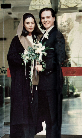 Divorced husband and wife: Claudio Carlos Basso and Monica Bellucci at their wedding ceremony