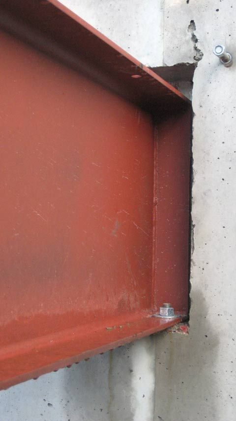 Steel Beam In Concrete Pocket Connection Interiors