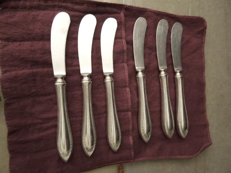 Cheese Jam Butter Spreader Knife Set With Tarnish Storage