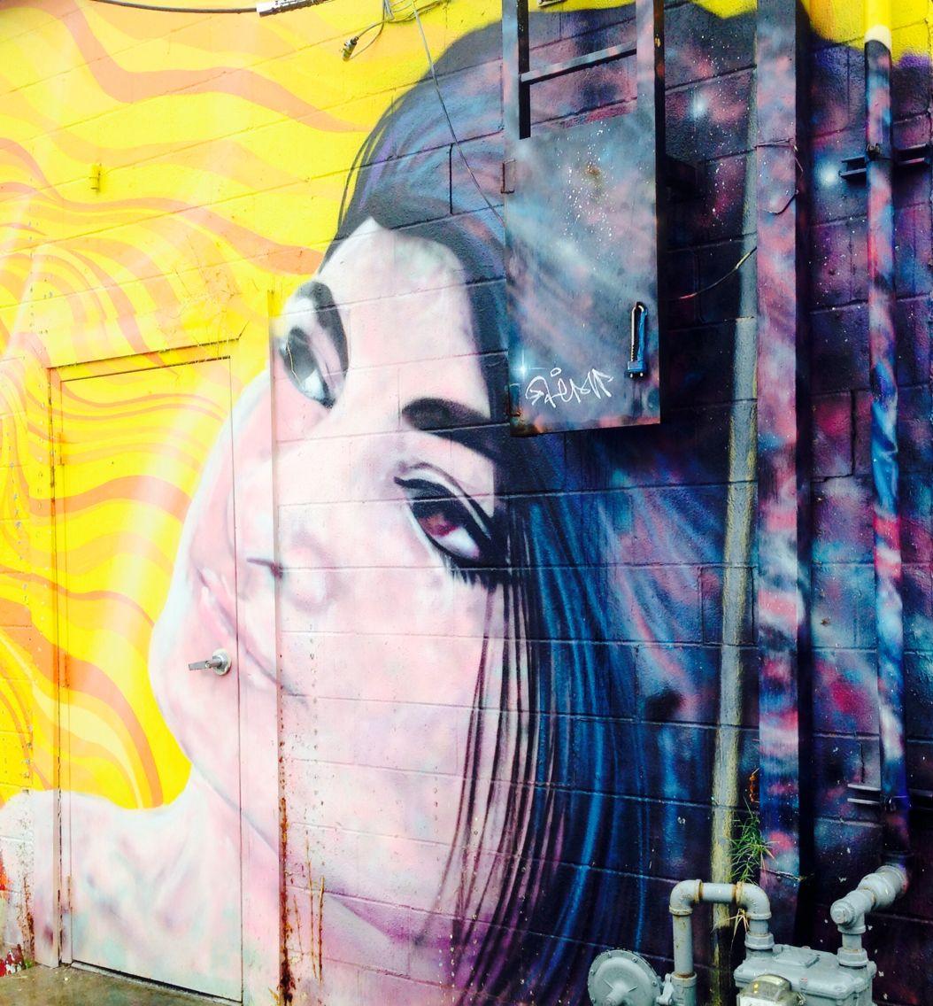 She looks better from afar. Street art, Artwork, Painting