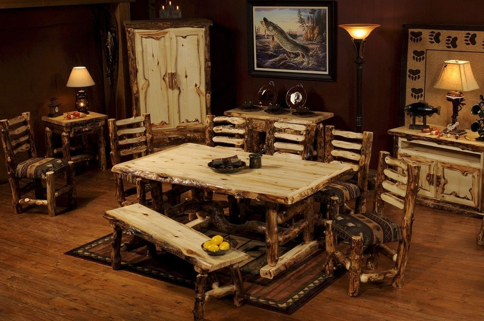 Exceptionnel Aspen Log Dining Table From The Log Furniture Store
