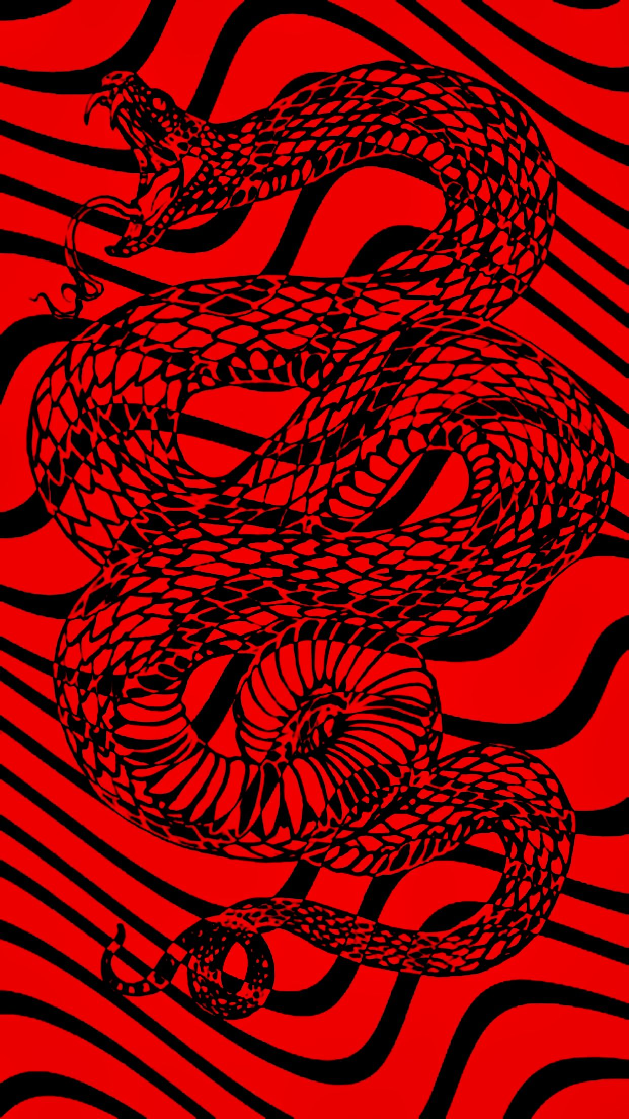 red and black snake pewdiepie wallpaper trippy pattern HD