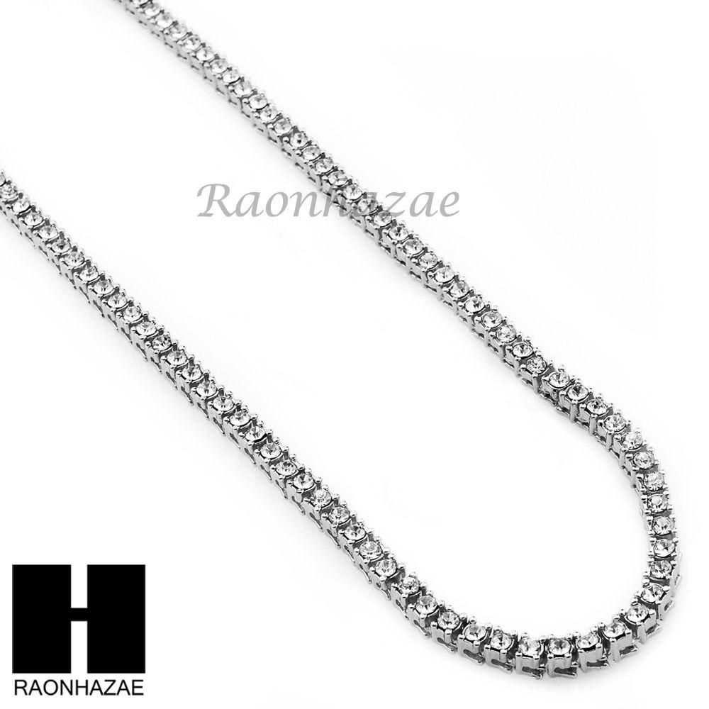 Hip Hop Migos Rick Ross Simulated Clear Diamond Tennis Chain Necklace Gold Silver Chains Chain Chain Necklace