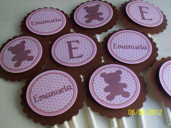 Teddy Bear Cupcake Toppers-Bear Cupcake by PartiezwithPizazz