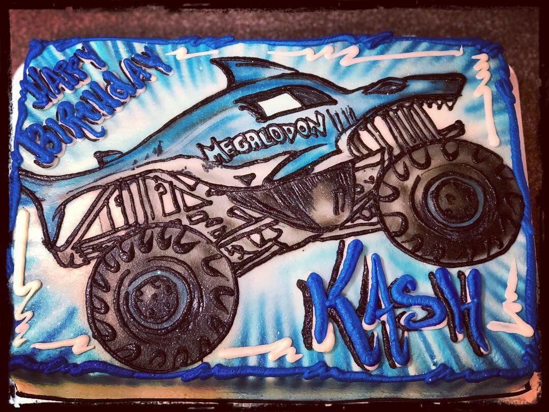 Megalodon Monster Truck Cake Monster Truck Birthday Cake Monster Truck Cake Monster Truck Birthday