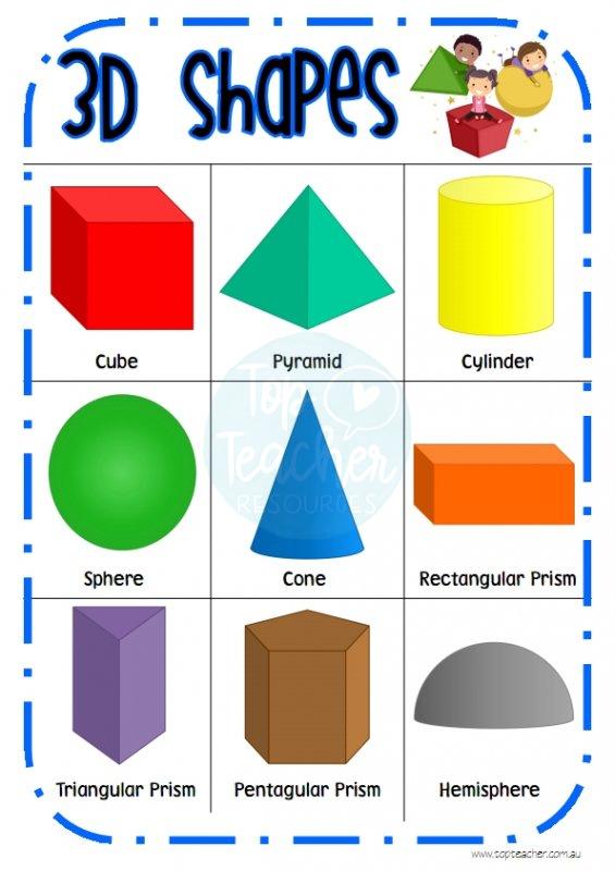 3d Shape Desk Chart Top Teacher Innovative And Creative Early Childhood Curriculum Resources Kindergarten Math Activities Shapes Kindergarten Math For Kids