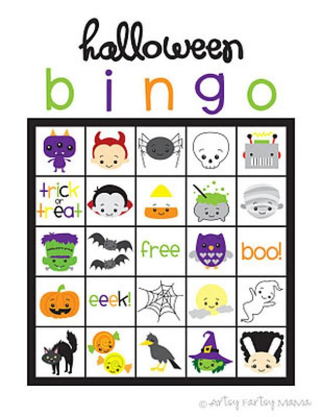 free halloween bingo cards perfect for the classroom or at home artsy fartsy mamas halloween bingo cards