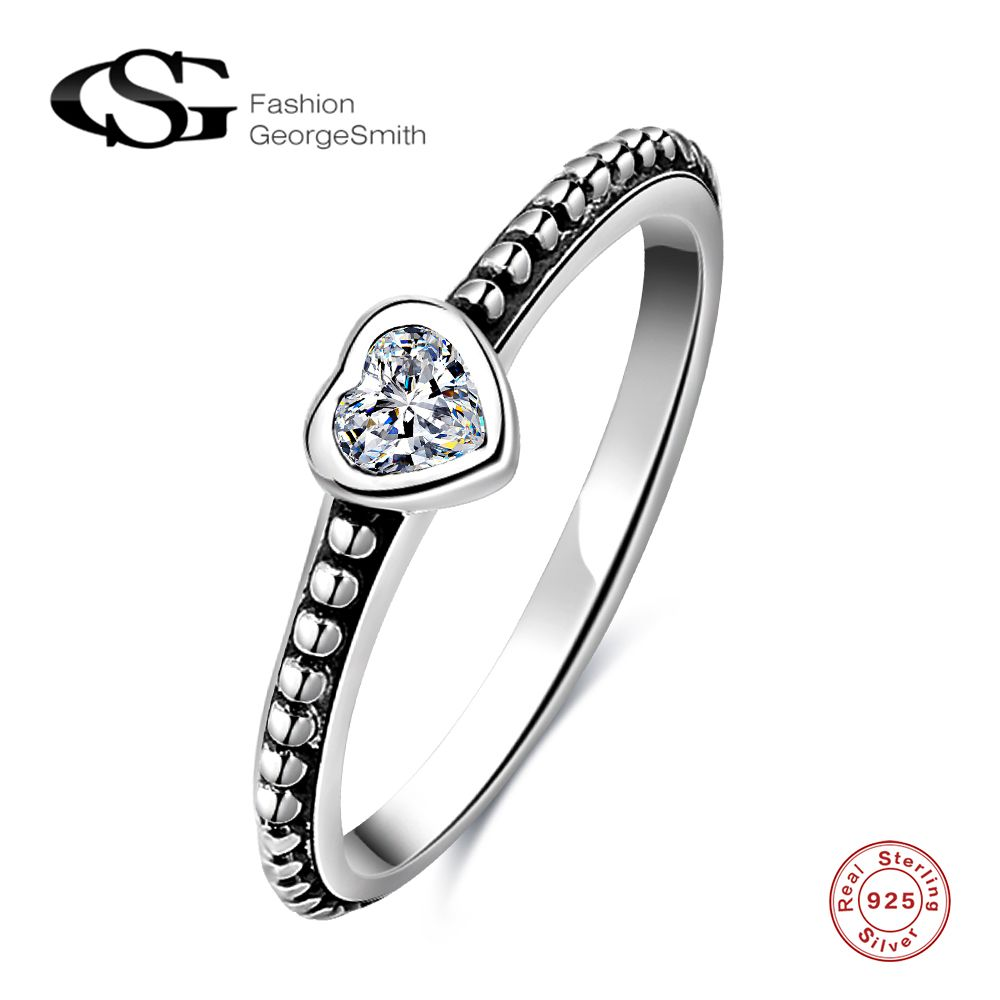 Sterling Silver Heart Thai Silver Ring Silver Rings Sterling Silver Heart Rings