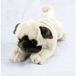 Pg Dog Stuffed Toy Small Lying Fawn Pepito Dogs Pugs Animals