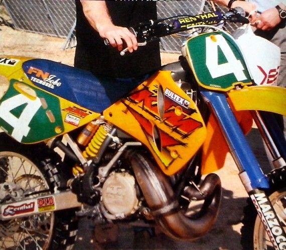 Kurt Nicoll Ktm 250 Factory 1996 Ktm Motocross Bikes Dirtbikes