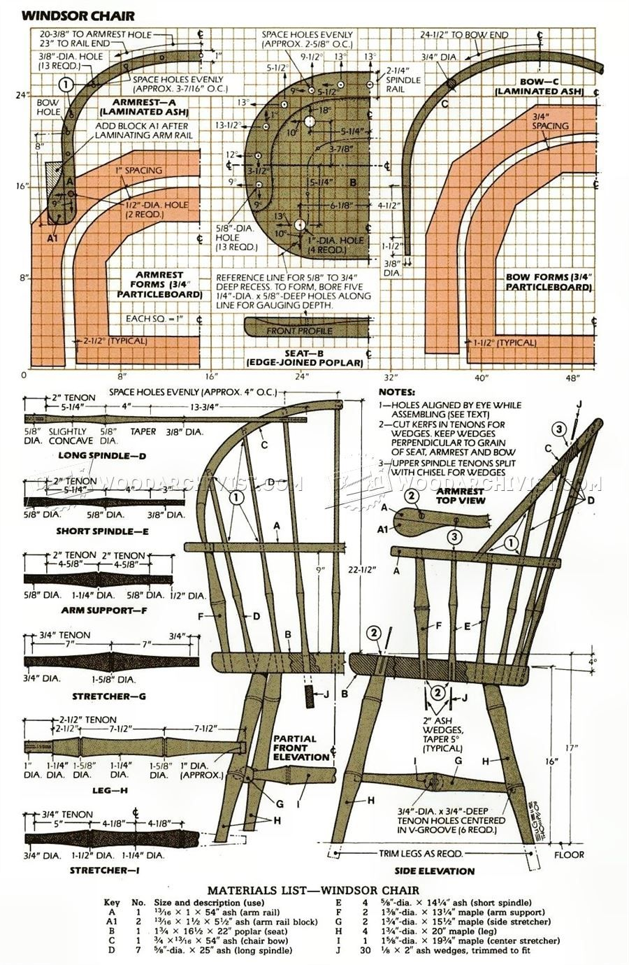 #2657 Classi Windsor Chair Plans - Furniture Plans ...