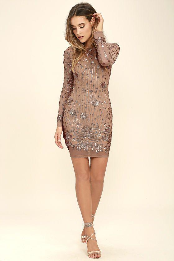 d4f36f0d15 Shine of the Season Gold Sequin Dress | Dream Closet | Gold sequin ...