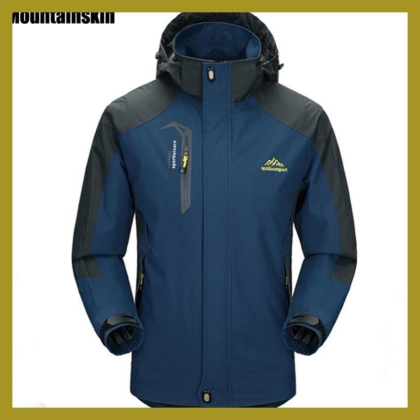 Mountainskin 5XL Men s Jackets Waterproof Spring Hooded Coats Men Women  Outerwear Army Solid Casual Brand Male Clothing 285b6bb6ea89f