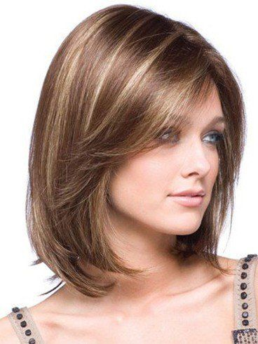 Shoulder length hairstyles for square faces | Gray hair | Pinterest ...