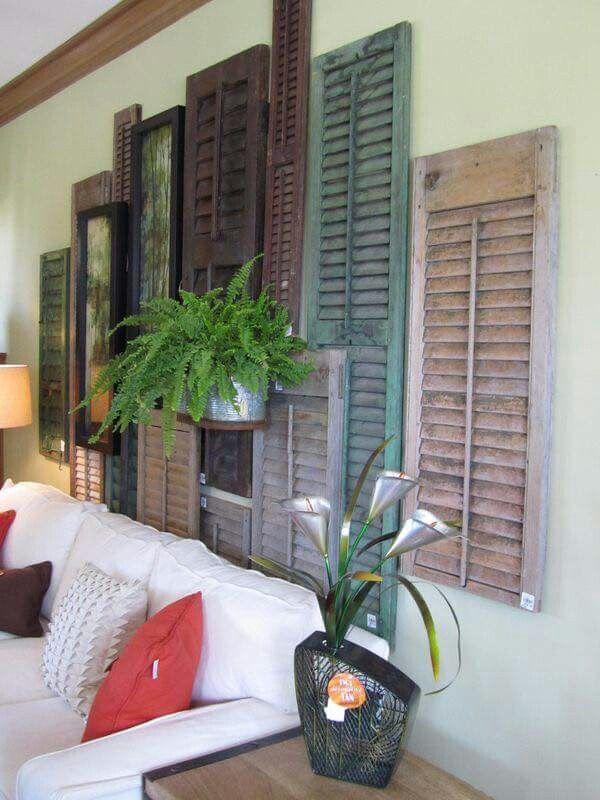 Jendela Krepyak Diy Shutters Old Window Decor Shutter Decor