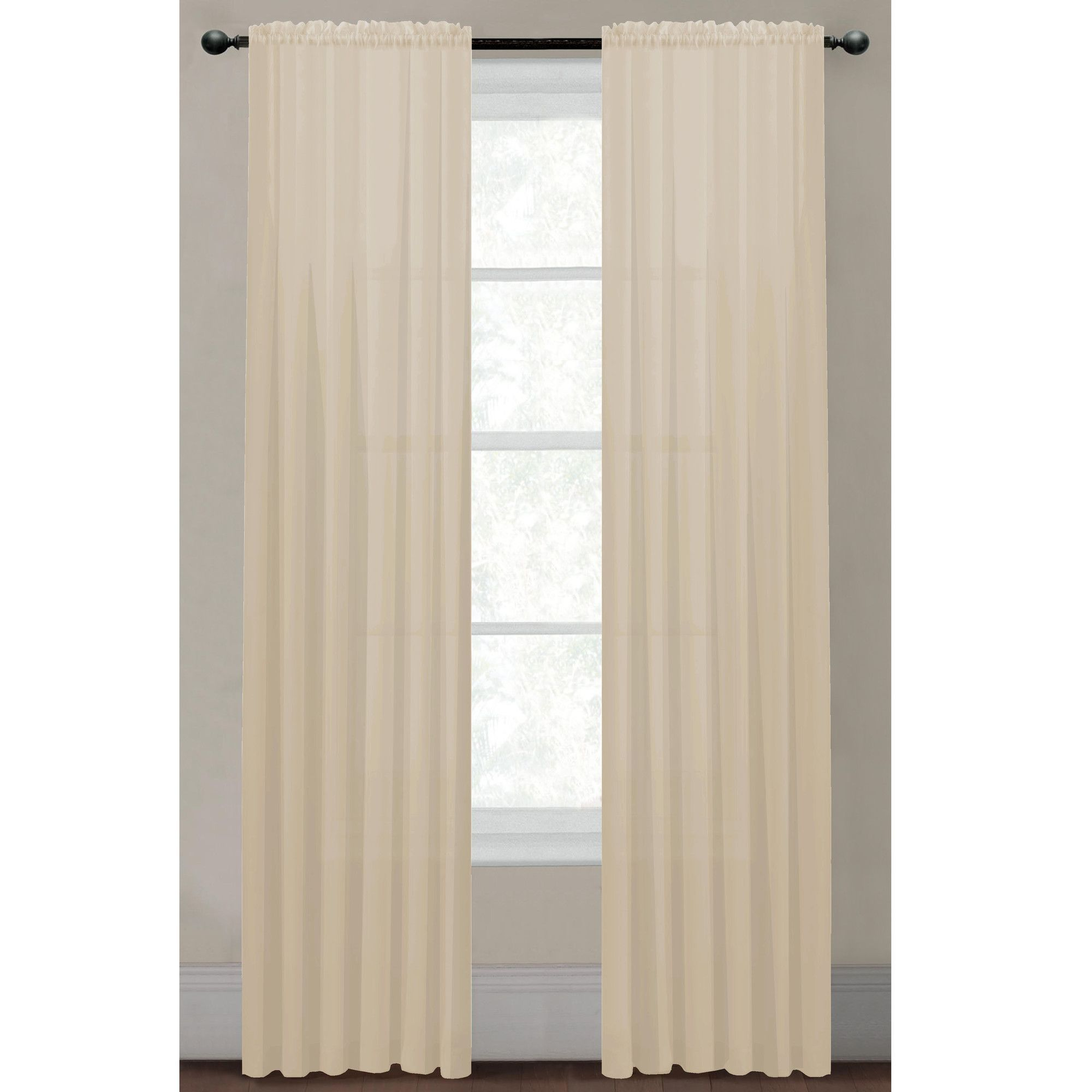 Diamond Sheer Voile Extra Wide Rod Pocket Curtain Panels Panel