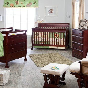 This is going to be my baby crib! in a cherry wood finish.