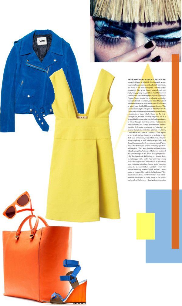 """bold colors"" by natasha-pecanac ❤ liked on Polyvore"