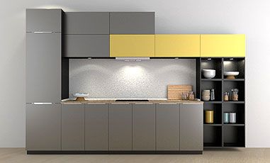 Small Straight Kitchen Design. Mangiamo Modular Kitchen Online  Enhance the charm of your kitchen small big with our Straight Parallel L Shaped modular designs and buy Designs Buy Furniture at