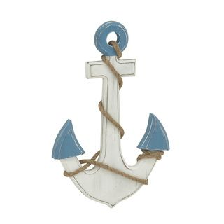 "Wooden Anchor Wall Decor anchor wall decor (anchor wall decor, 12""w, 17""h), black, size"