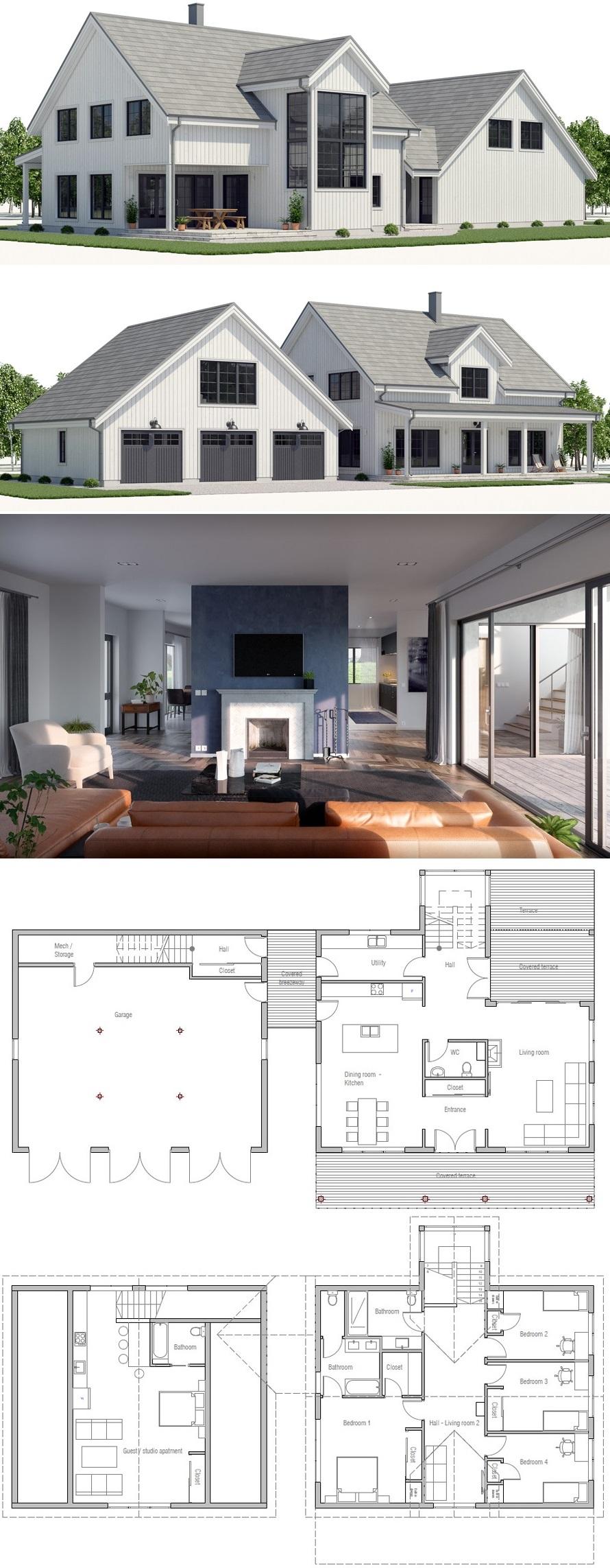 Home Plan House Plan Floor Plan Farmhouse Plans