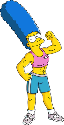 Muscular marge simpson google search animation comics and manga pinterest - Marge simpson et bart ...
