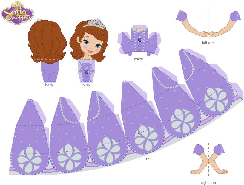 Sofia The First 3d Papercraft Craft Printable 1012 Disney Paper Dolls Paper Crafts Princess Paper Dolls