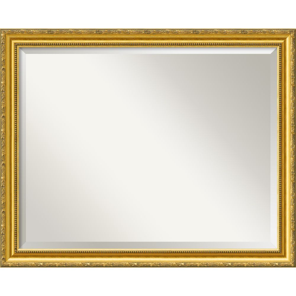 Amanti Art Wall Mirror Large, Colonial Embossed Gold 32 x 26-inch ...