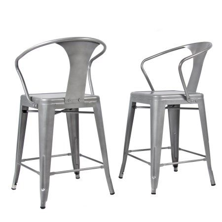 Miraculous 2 Metal Bar Stools Vintage Antique Style Bar Stool Arm Squirreltailoven Fun Painted Chair Ideas Images Squirreltailovenorg