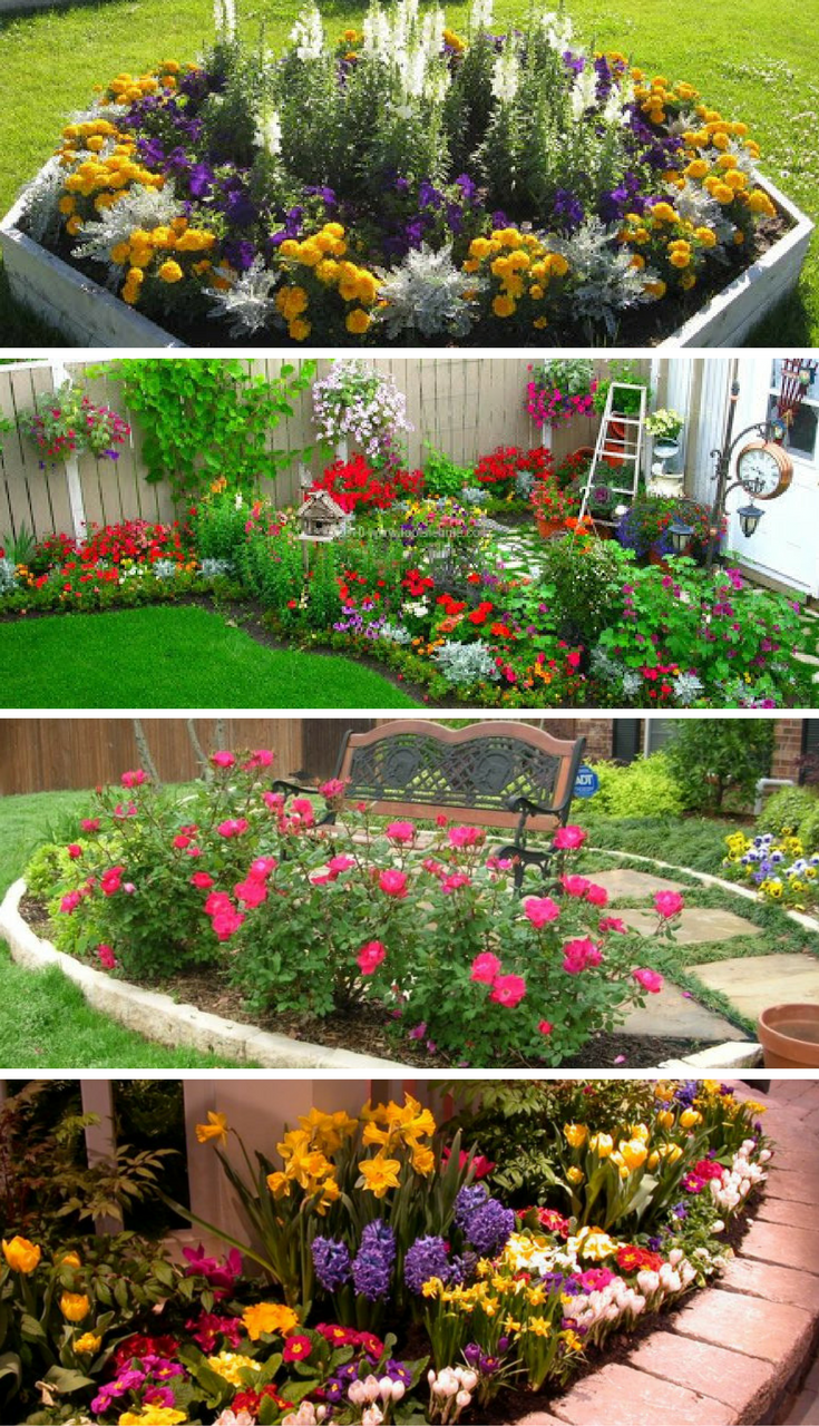 Incroyable 16 Small Flower Gardens That Will Beautify Your Outdoor Space