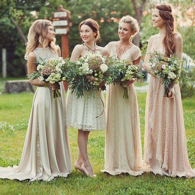 Рустик платье подружек