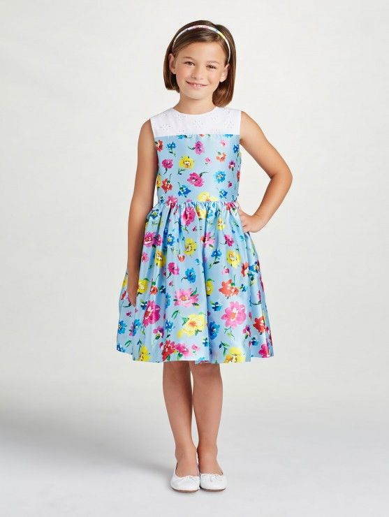 3bf2714ccc70 Scattered Flower Mikado Party Dress | Clothes for Kids | Dresses ...