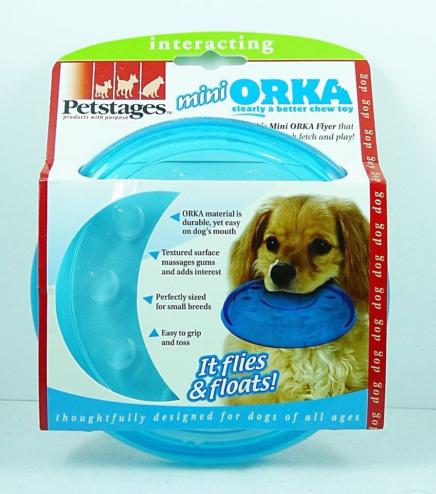 New Petstages Orka Flyer Dog Toy Mini 6 Sb1 Tb1 Petstage