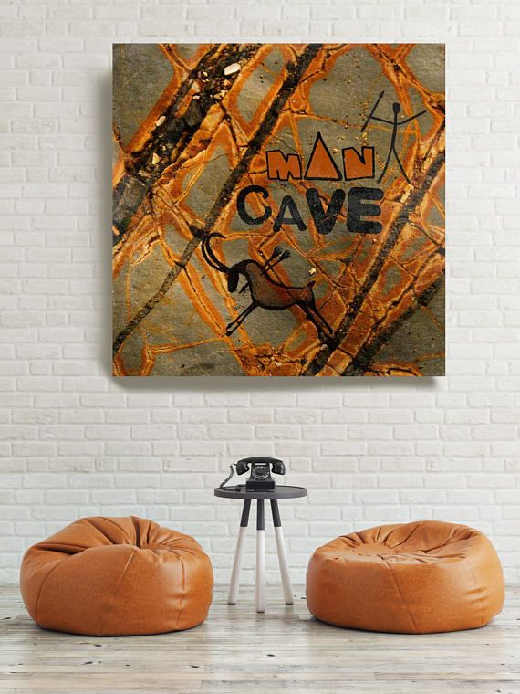Man Cave Wall Art Extra Large Urban Canvas Art Print Colorful Brown Urban Canvas Art Print Up To 48 By Irena Orlov Wall Man Cave Wall Art Rustic Painting