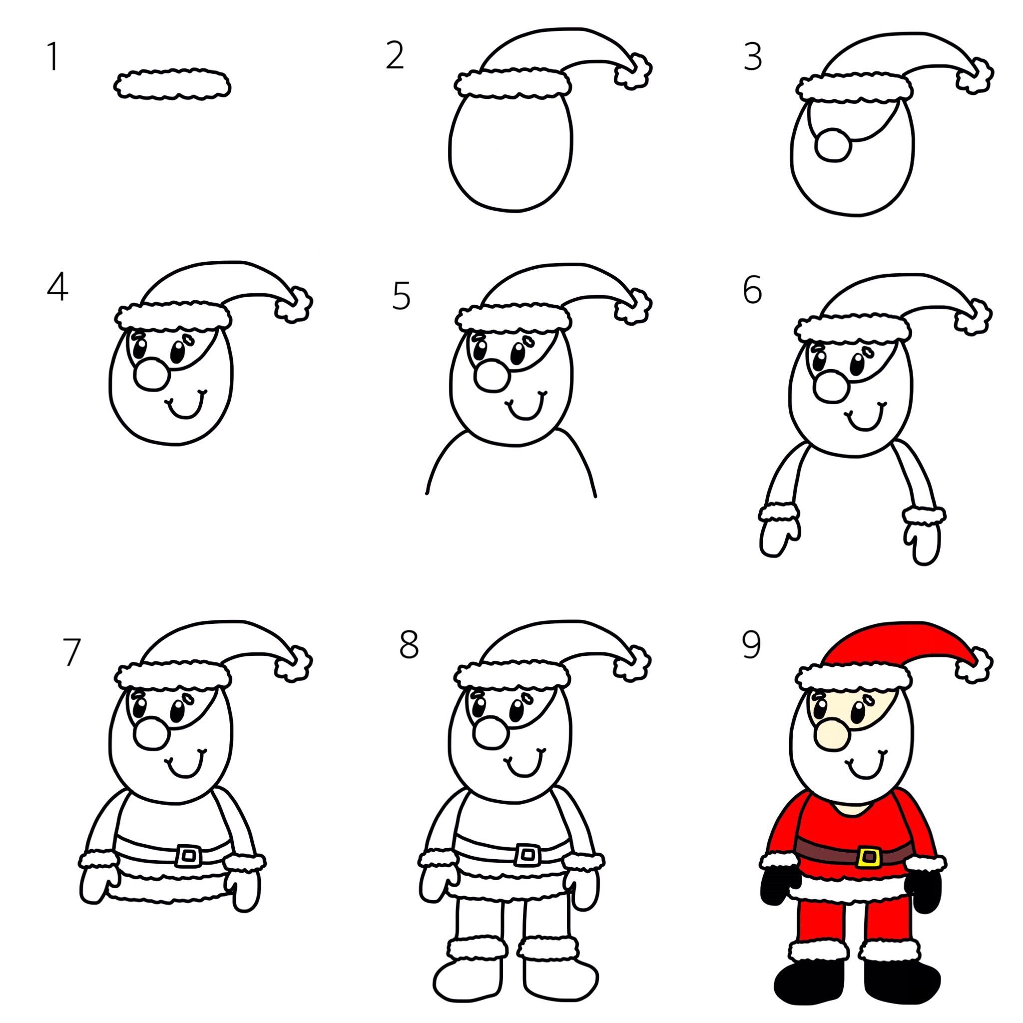 How to Draw a Cartoon Father Christmas and COMPETITION