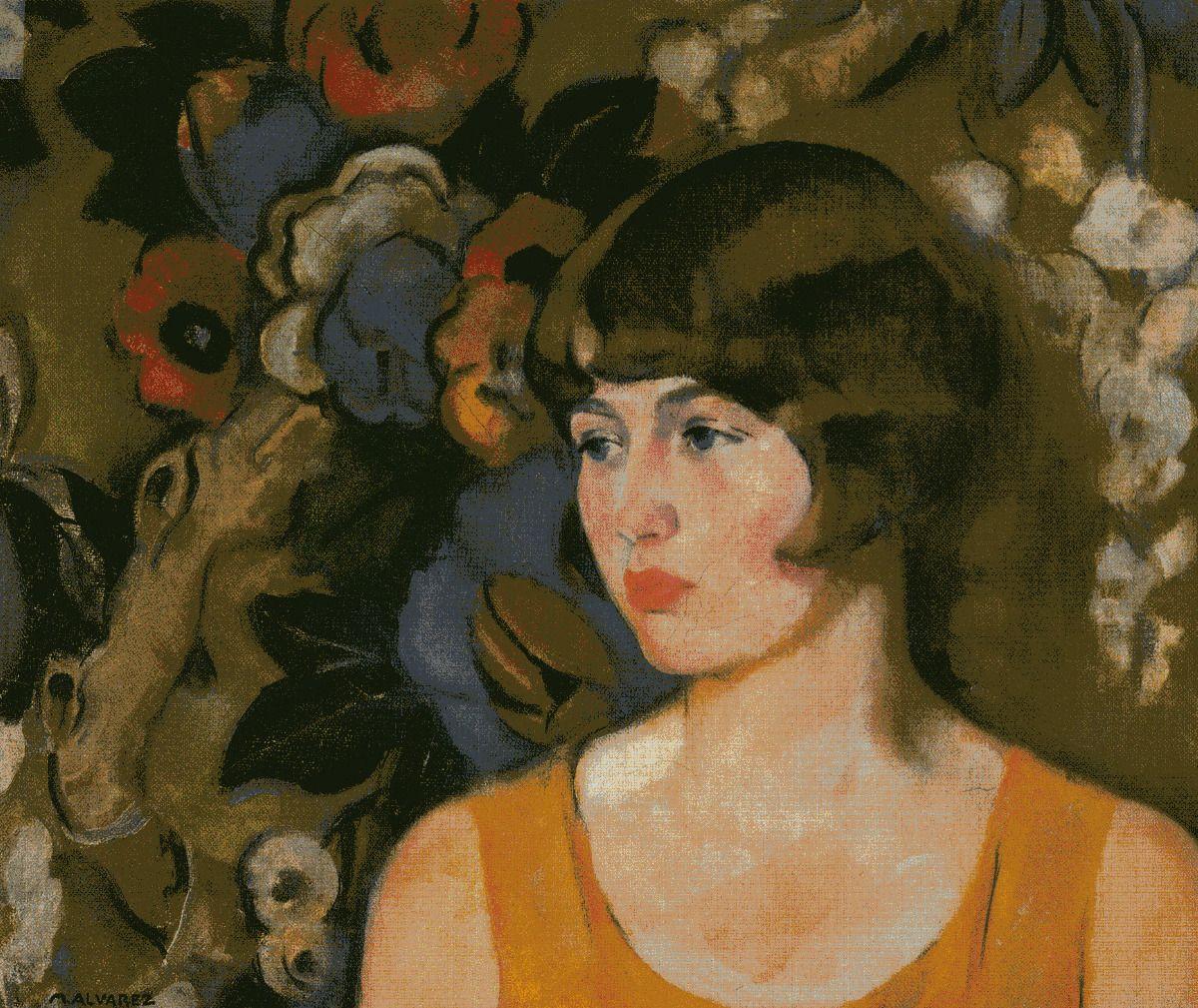In the Garden, Mabel Alvarez, 1922