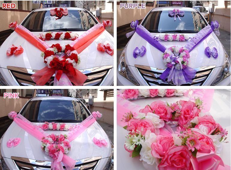 Details About New Flower Wedding Car Decoration Kit Beautiful 3 Color