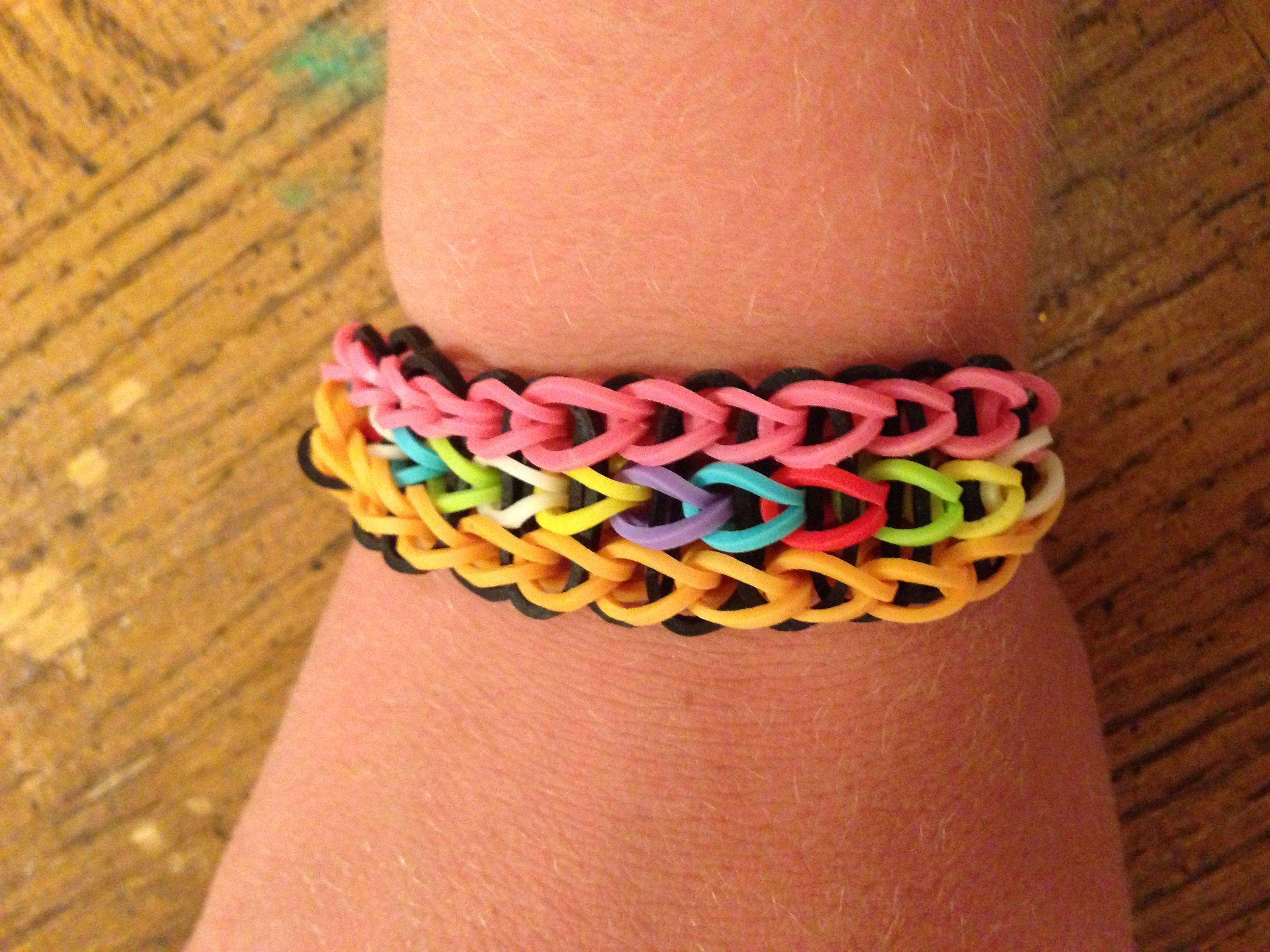 Triple single rainbow loom bracelet | Rainbow loom, Loom bands